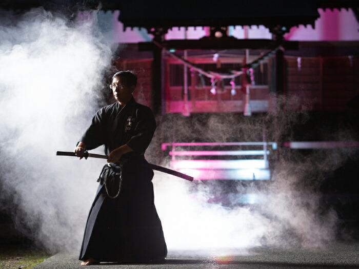 居合神社でのサムライショー