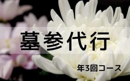 福島県福島市 【ふるさと納税】No.0724 花の店サトウ 墓参代行サービス 年3回コース