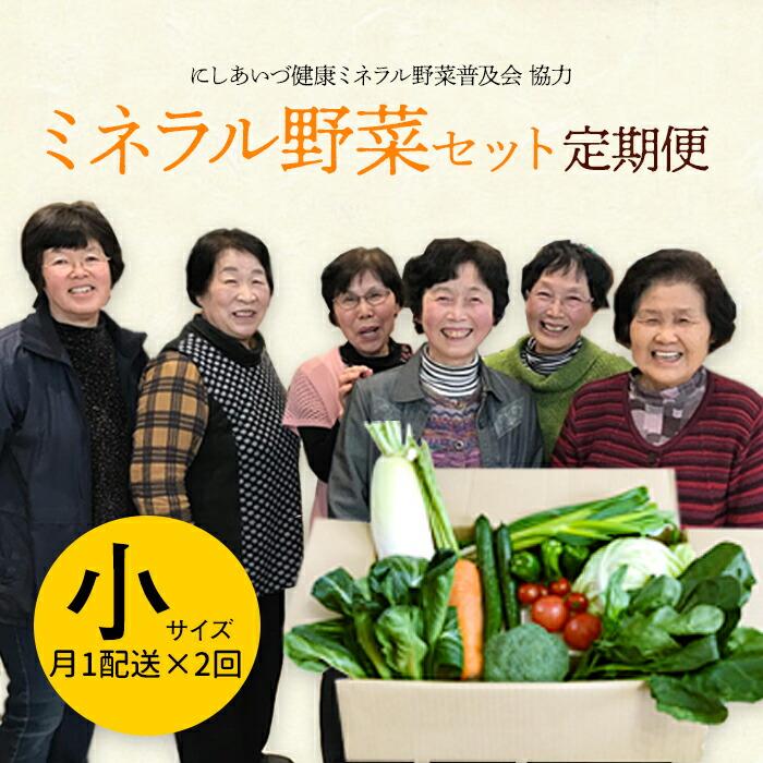 定期便 西会津ミネラル野菜セット(小)2回
