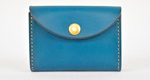 栃木県栃木市 【ふるさと納税】財布 minca/Coin purse 02/BLUE