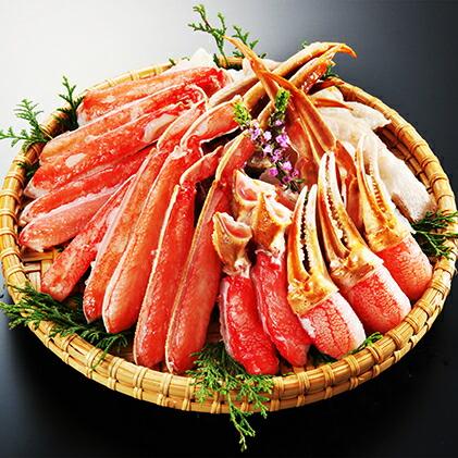 【生食可】越前かに問屋の元祖 カット済み生ずわい蟹大盛り 約1.2kg