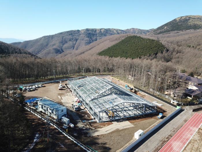 現在建設中の高地トレーニング用プール