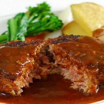 キッチン飛騨の飛騨牛・飛騨産の豚肉を使用したハンバーグ4個セット