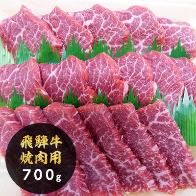 ふるさと納税 5等級 飛騨牛モモ又はカタ肉 焼肉用 約700g