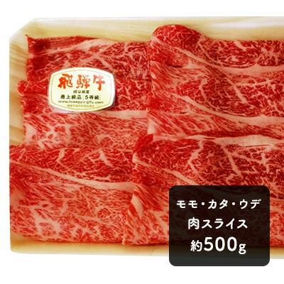 ふるさと納税 モモ・カタ・ウデ肉スライス 約500g