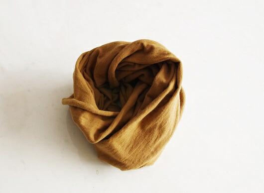 三重県熊野市 【ふるさと納税】熊野番茶染め スヌード 金茶色(銅媒染)