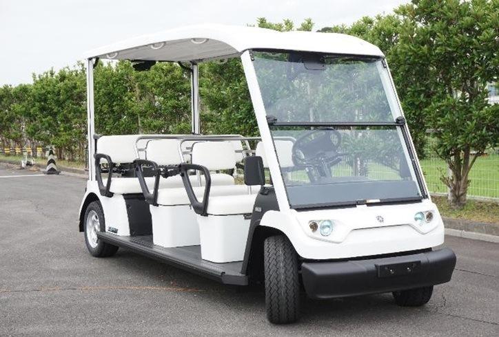 使用する自動運転車両(ヤマハモーターパワープロダクツ製電動ゴルフカート)