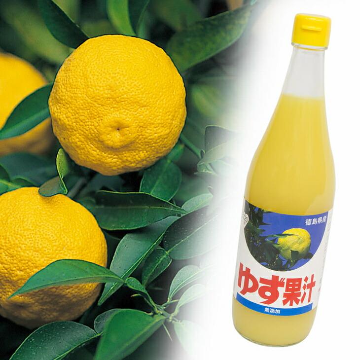 徳島県佐那河内村 【ふるさと納税】100% ゆず果汁 720ml