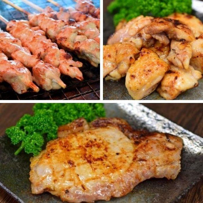 高知県大月町 【ふるさと納税】塩麹につけた四万十鶏と力豚のBBQセット