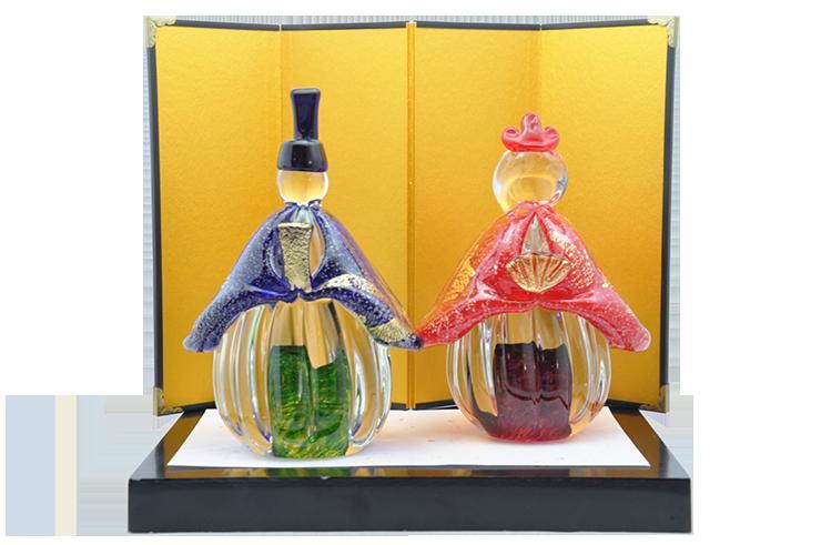 福岡県宗像市 【ふるさと納税】KA0326_幸せいつまでも。手作りガラスのお雛様 GN-18