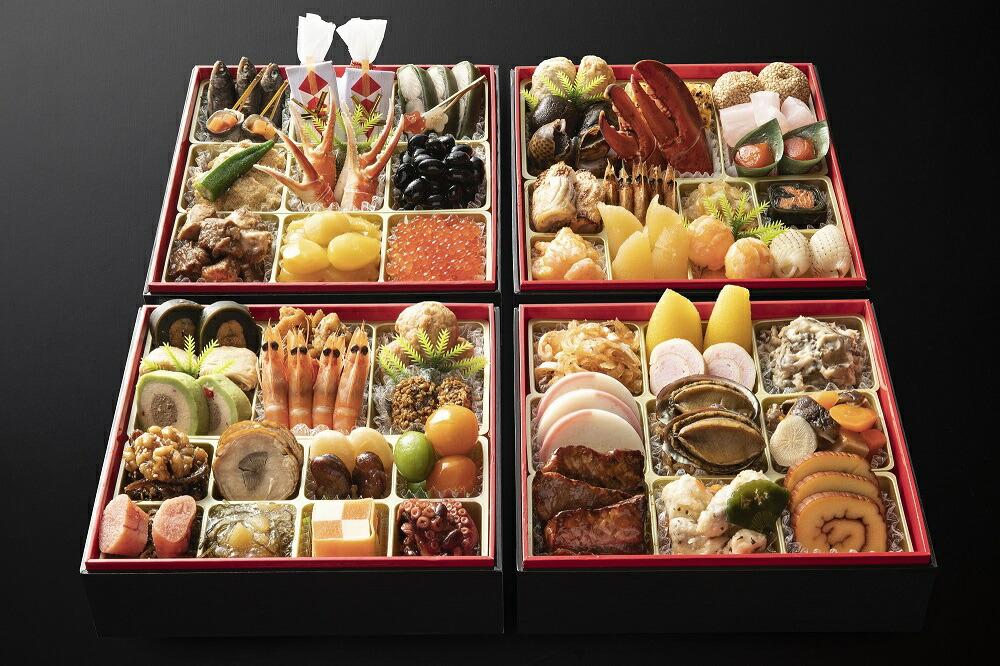日本料理てら岡 おせち 博多寿与段重(5~6人前)