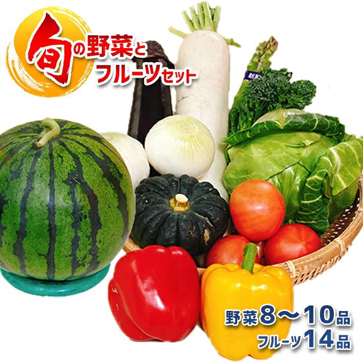 熊本県玉名市 【ふるさと納税】旬の野菜<8~10種類>とフルーツ1品の詰合せBOX 熊本玉名産
