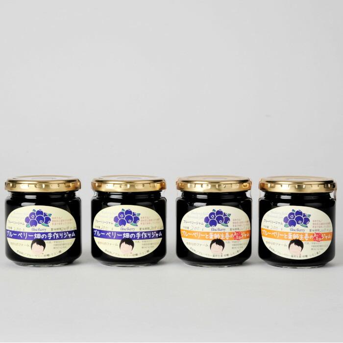 熊本県南阿蘇村 【ふるさと納税】ブルーベリー畑の手作りジャム2種×2セット