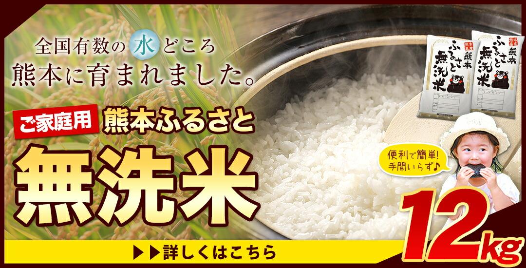 熊本ふるさと無洗米12kg