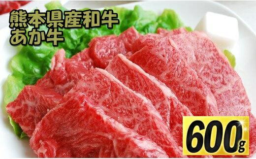 熊本県甲佐町 【ふるさと納税】熊本県産 和牛 あか牛 焼肉用 600g