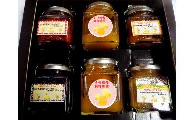 大分県宇佐市 【ふるさと納税】純粋ハチミツと無添加ジャムのセット