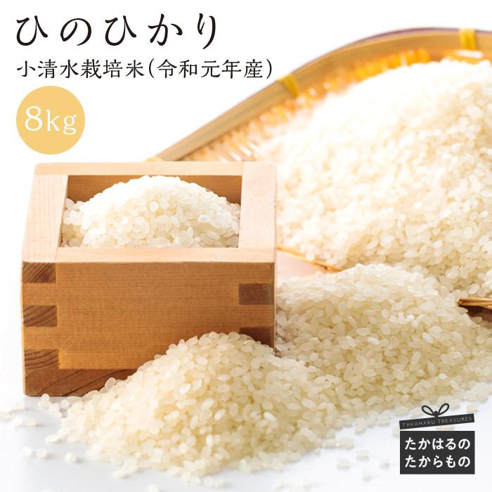 【ふるさと納税】宮崎県産令和元年産 小清水米8kg ひのひかり