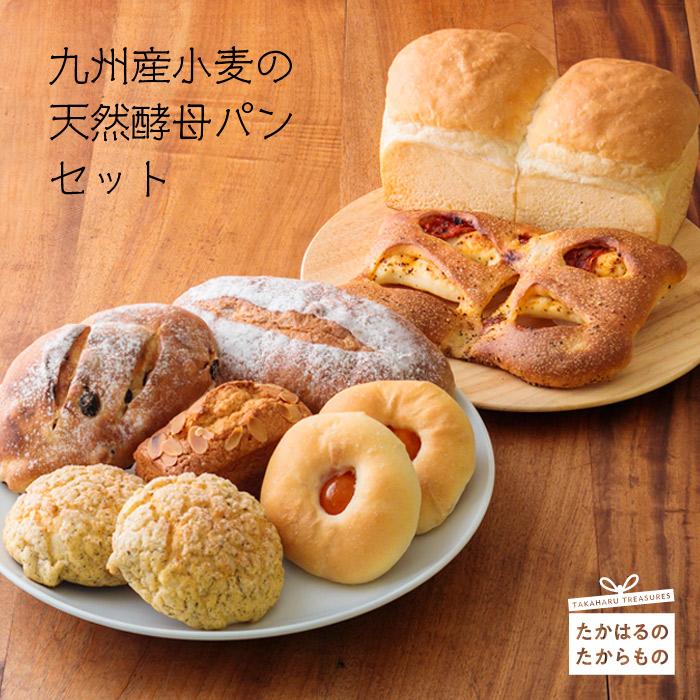 【ふるさと納税】九州産小麦の天然酵母パンセット 9個(7種類)