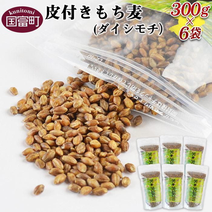 皮付きもち麦(ダイシモチ)300g×6袋