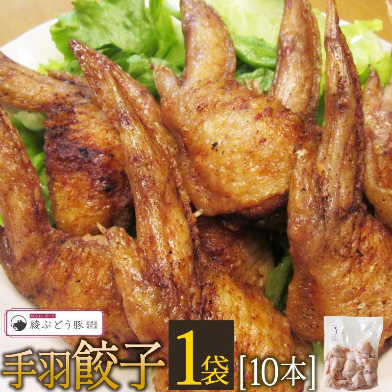 宮崎県綾町 【ふるさと納税】手羽餃子1袋10本(ぶどう豚使用)