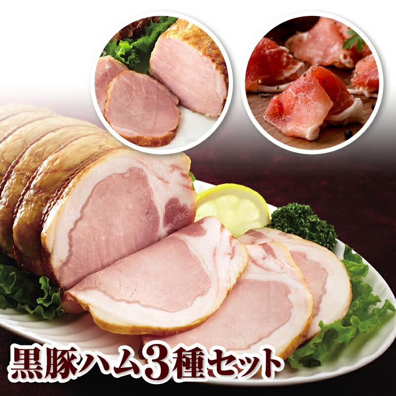 鹿児島県垂水市 【ふるさと納税】黒豚ハム3種セット