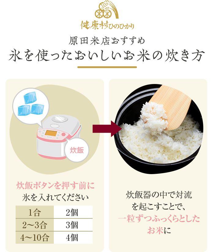 原田米店おすすめ 氷を使ったおいしいお米の炊き方