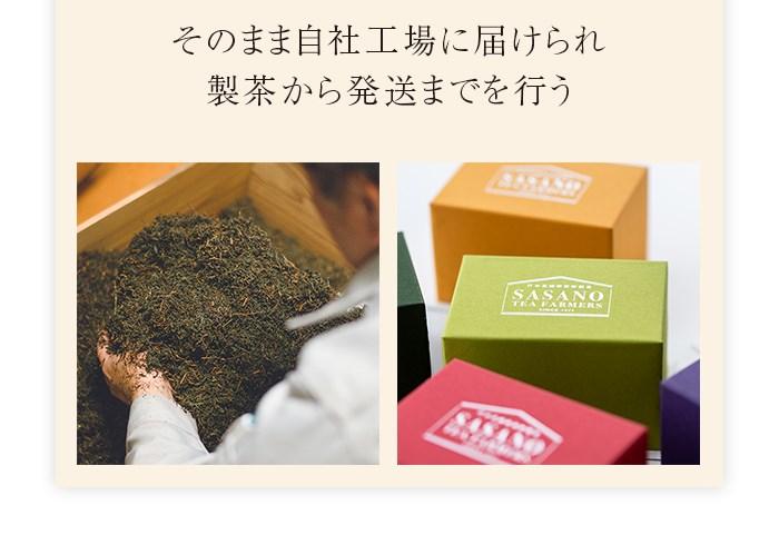 そのまま自社工場に届けられ、製茶から発送までを行う