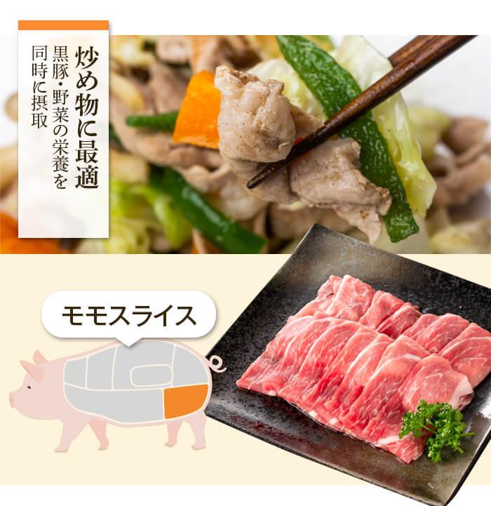 炒め物に最適 黒豚・野菜の栄養を同時に摂取 モモスライス