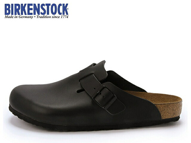 face to face rakuten global market birkenstock boston 060191 black leather sabot clog. Black Bedroom Furniture Sets. Home Design Ideas