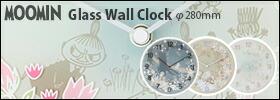 ムーミンガラス掛け時計