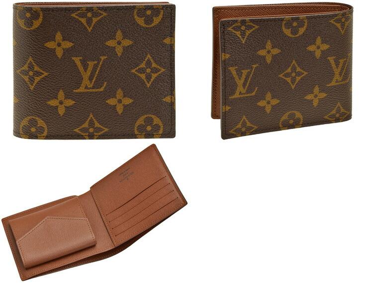 51b42dd71381 ルイヴィトン/LOUIS VUITTON [ サイフ ] 財布 ポルトフォイユ?マルコ NM ポケットにすっきり収まるスクエア型のお財布です。