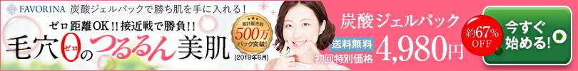 炭酸ジェルパック5回分4980円