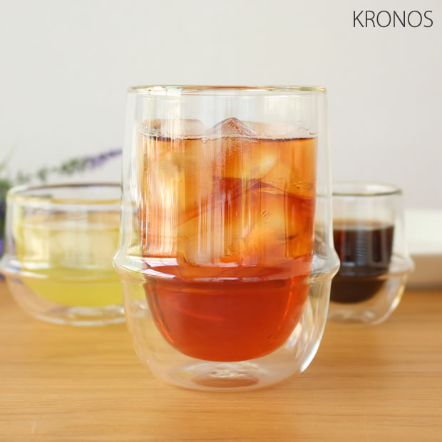 KINTO(キントー) KRONOS ダブルウォール アイスティーグラス 350ml