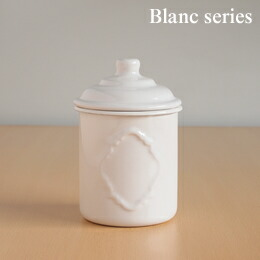 エンボスキャニスターM (白いホーロー・Blancブランシリーズ) takakuwa 006908