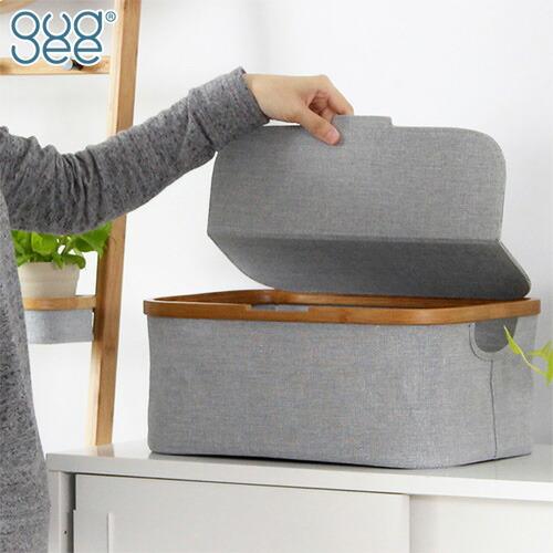 GUDEE 収納ボックス フタ付き 布 収納カゴ 長方形