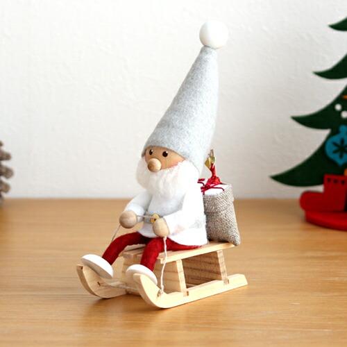 ノルディカニッセ そりに乗るサンタ サイレントナイトシリーズ NORDIKA nisse 2020 クリスマス 雑貨 木製 人形 北欧 NRD120646