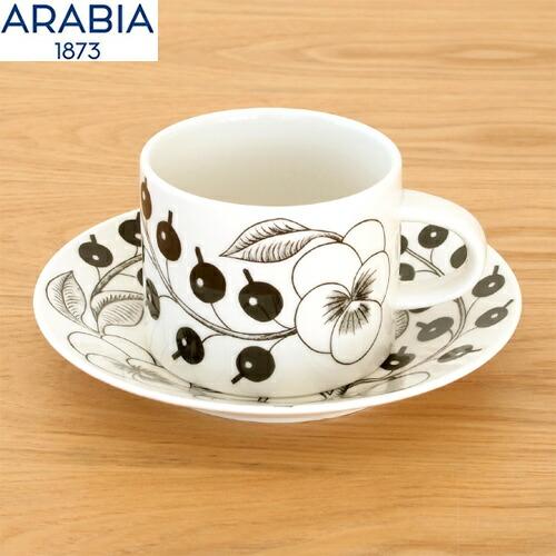 アラビア ブラック パラティッシ ARABIA Black Paratiisi 6677 6678カップ&ソーサー ティーカップ