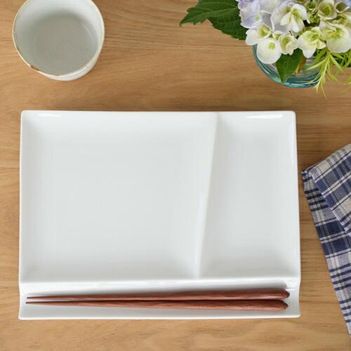 ミヤマ イゾラ パレットプレート L miyama isola 白磁 皿 仕切り皿 日本製 59-007-10