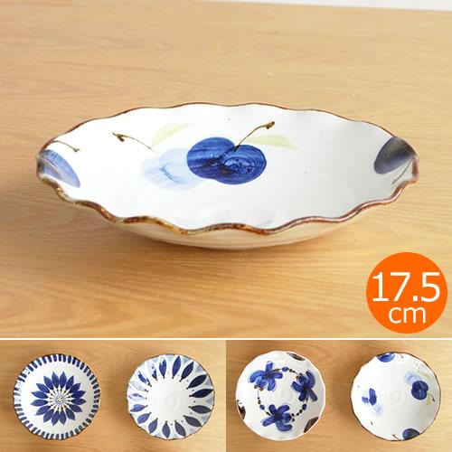 波佐見焼 HASAMI 翔芳窯 藍の器 銘々皿 17.5cm プレート 小皿 取皿 浅皿 陶磁器 職人 手書き 軽量 軽い 薄い 日本製