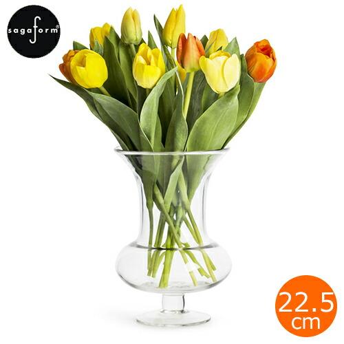 サガフォルム sagaform フラワーベース  ガラス シンプル 花瓶 H22.5cm 花器 クリア 北欧 Trophy vase clear SEA GLASBRUK