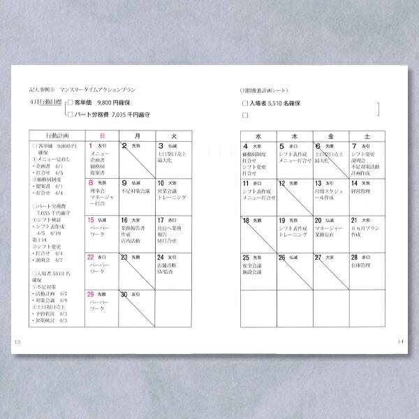 年間仕事手帳(使用説明1)