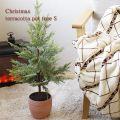 クリスマス テラコッタポットツリー Sサイズ