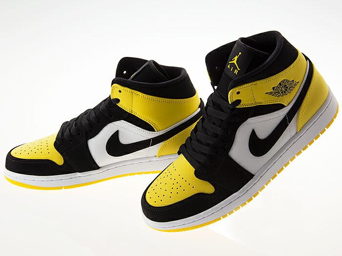 Mens Air Jordan 1 Mid SE Yellow Toe