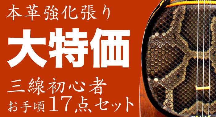 沖縄三線セット - 強化張り