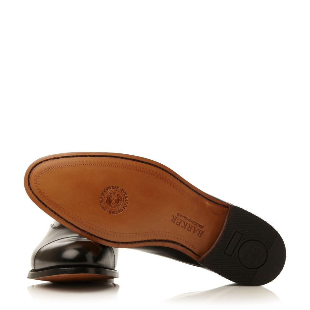 Barker Winsford High Shine Leather Toe Cap Shoe