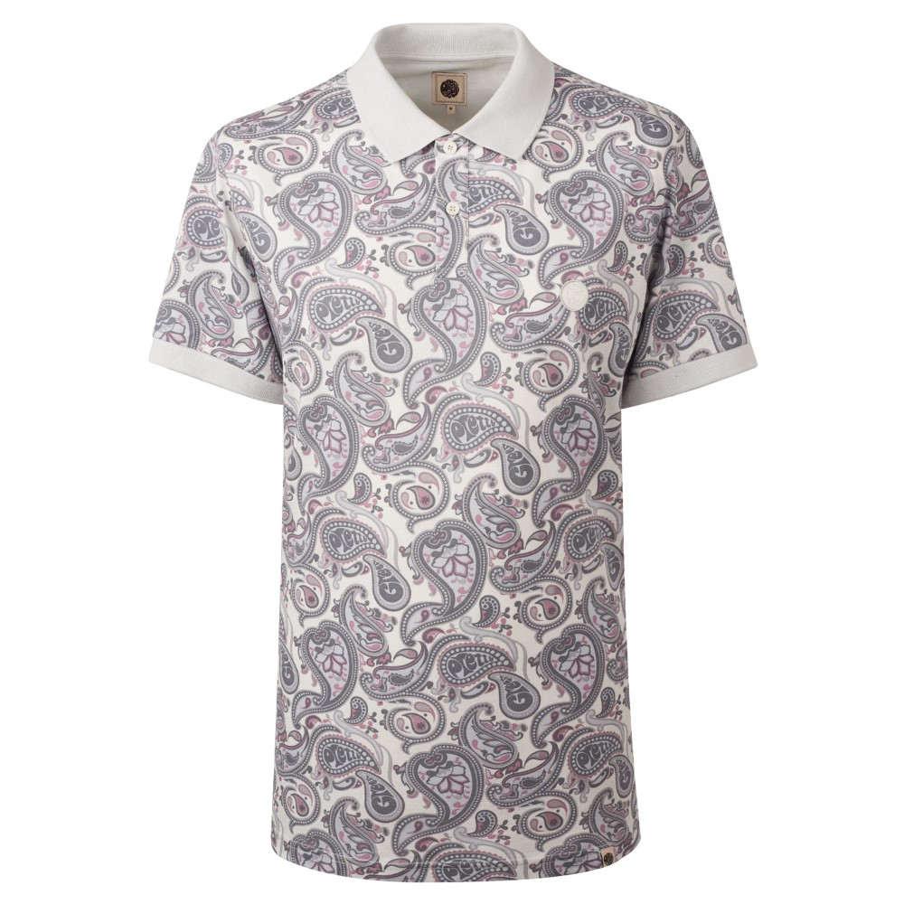 16d6253129cb プリティー グリーン メンズ トップス ポロシャツ【Pique Paisley Print Polo Shirt】grey プリティー グリーン メンズ  トップス ポロシャツ 【サイズ交換無料】