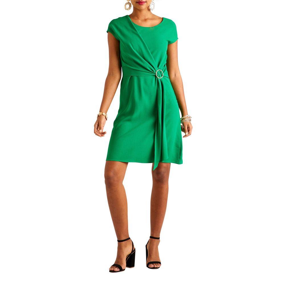 2ec51133f223e ユミ Yumi レディース ワンピース・ドレス パーティードレス Retro Inspired Knee Length Party Dress  green