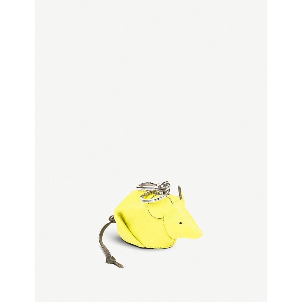 89f7a4b2c741 ロエベ レディース キーホルダー【mouse leather charm】Yellow lemon ロエベ レディース 財布・時計・雑貨 キーホルダー  【サイズ交換無料】