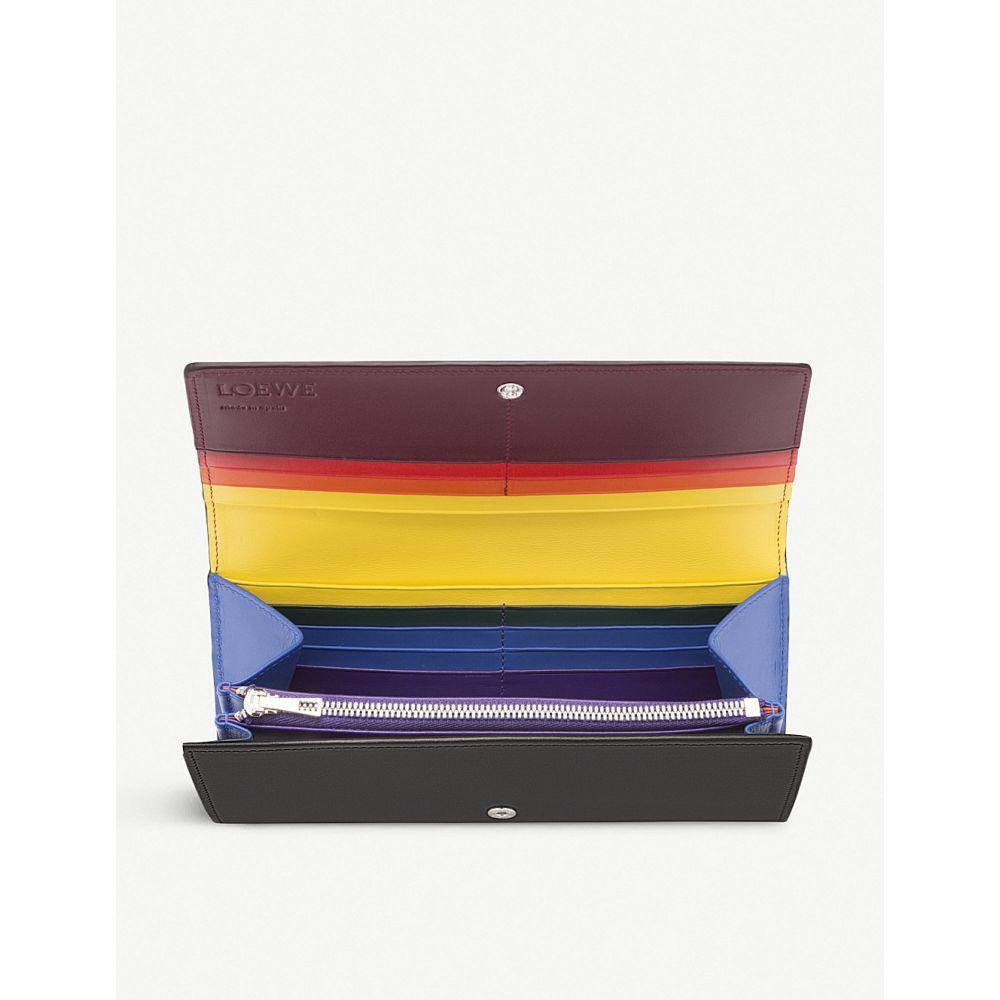 buy popular 54051 fbce5 ロエベ レディース 財布【rainbow continental leather wallet ...