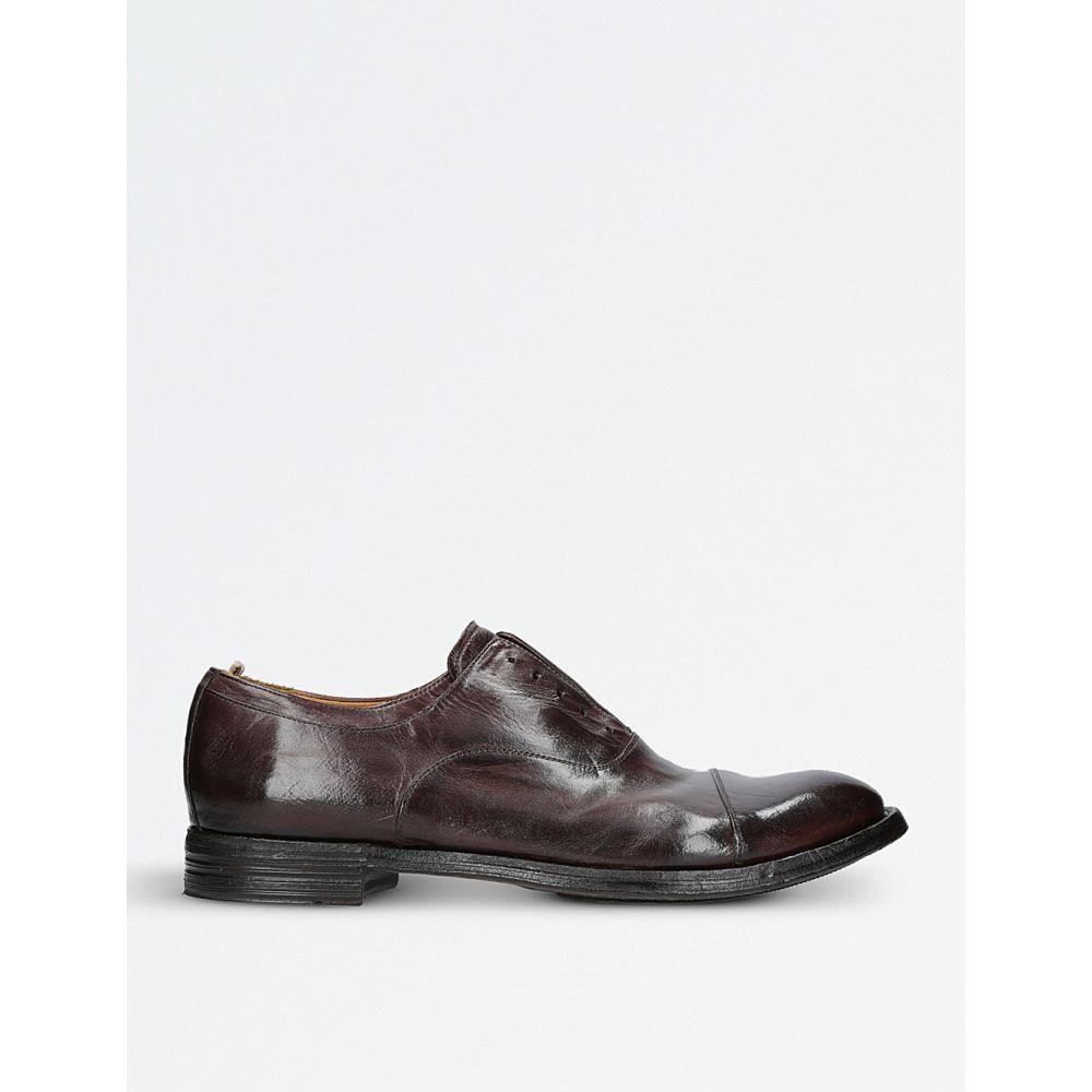 c9032c4556b16 オフィチーネ メンズ シューズ・靴 革靴・ビジネスシューズ anatomia laceless leather derby shoes Dark  brown オフィチーネ メンズ シューズ・靴 革靴・ビジネス ...